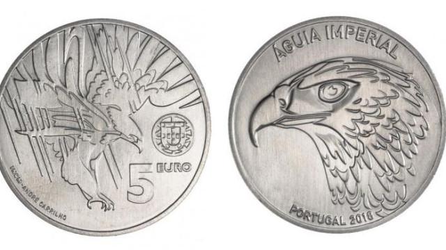 Banco de Portugal lança moeda de coleção com águia na face