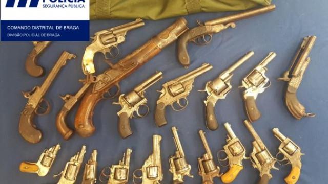 Apreendidas 21 armas de fogo a dois homens de Esposende