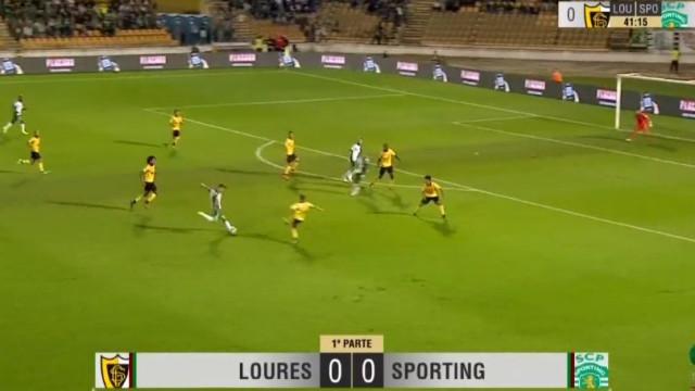 Bruno Fernandes encheu o pé e quebrou o nulo no Loures-Sporting
