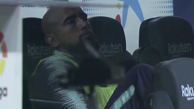 'Entusiasmo' de Arturo Vidal no 3-0 do Barcelona dá que falar em Espanha