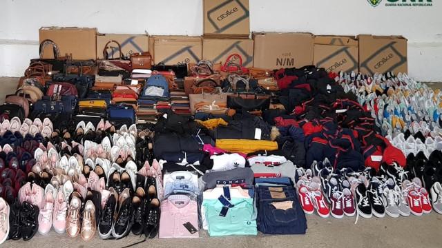 GNR apreende mais de 20 mil euros em artigos contrafeitos