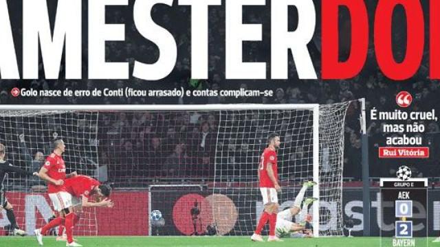 Cá dentro: Jornais pintam-se de vermelho e do efeito 'Amesterdor'