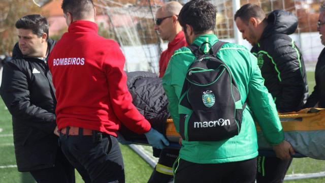 Jovem guarda-redes do Sporting hospitalizado após ficar inconsciente
