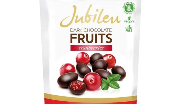 Cranberries cobertos com chocolate preto é a nova aposta da Jubileu