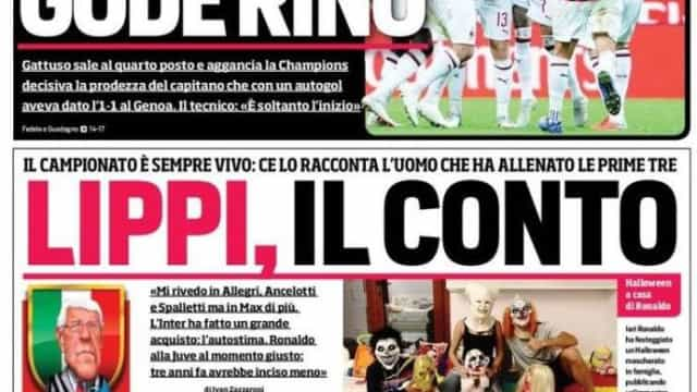 Lá por fora: Um Halloween feliz para Real Madrid e AC Milan