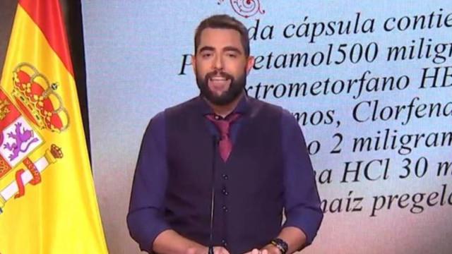 Comediante causa polémica ao assoar-se na bandeira de Espanha
