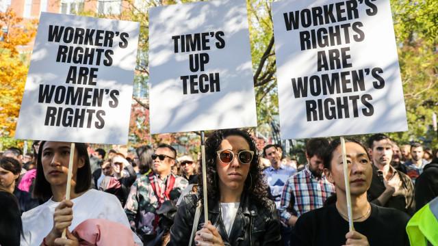 Colaboradores da Google protestam contra assédio sexual. Veja as imagens