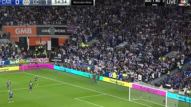 Gray marca para o Leicester e deixa mensagem emotiva para Vichai