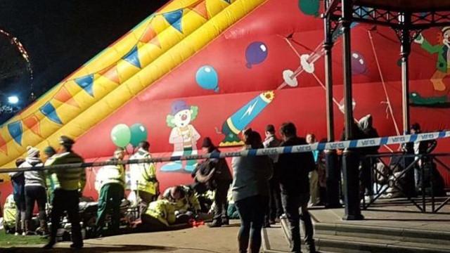 Oito crianças em estado grave após acidente com insuflável em Inglaterra