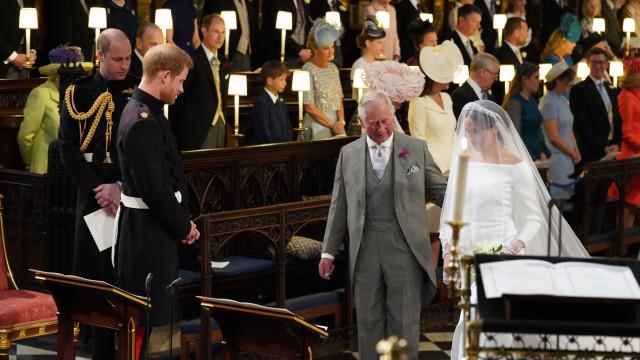 Harry recorda momento em que pediu ao pai para levar Meghan ao altar