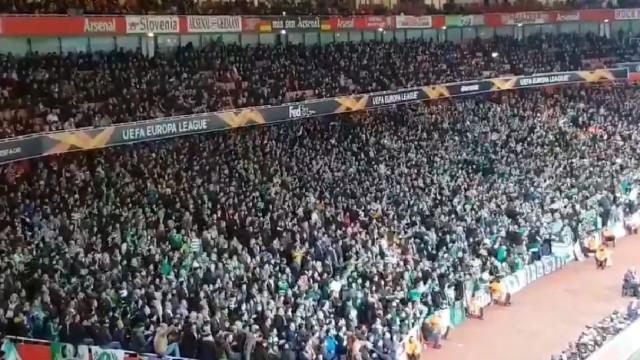 Impressionante: Adeptos do Sporting deixam ingleses surpreendidos