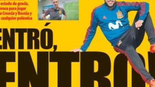 Lá por fora: O regresso de Jordi Alba e o 'papel' de Ronaldo