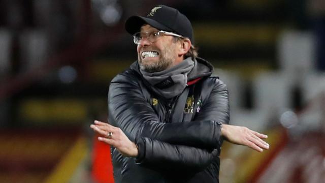 Jürgen Klopp multado por comportamento incorreto no jogo com o Everton