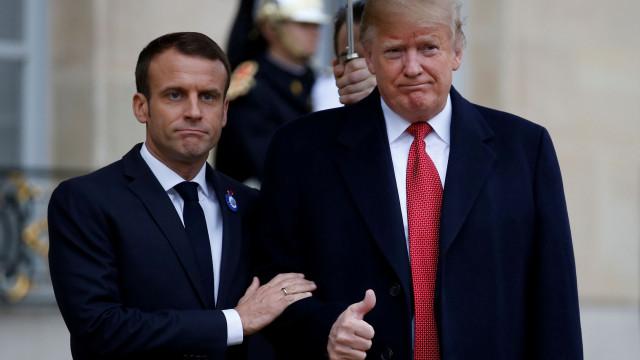 """Macron diz que """"exército europeu"""" não tem como alvo os Estados Unidos"""