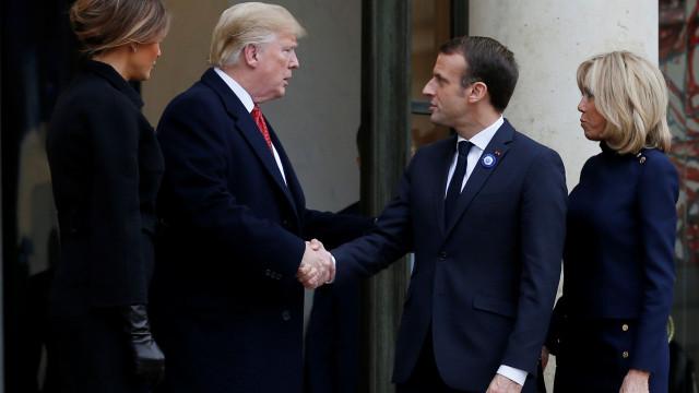 Europa deve pagar mais pela NATO, diz Macron a Trump