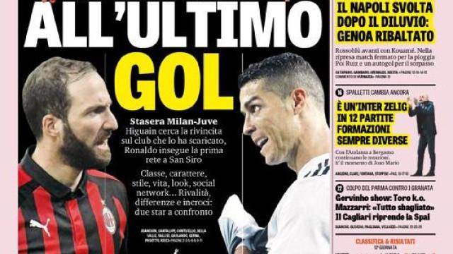 """Lá fora: Em Itália, duelo de titãs. Em Espanha, golo... """"do coxo"""""""