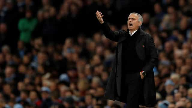 A reação de Mourinho após a derrota do United na casa do City