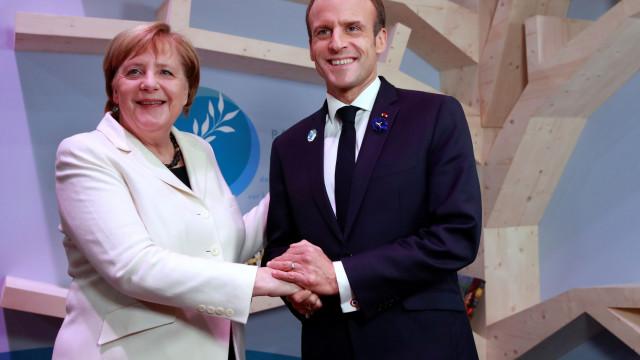Ameaça do nacionalismo para a paz é assinalada por Macron e Merkel