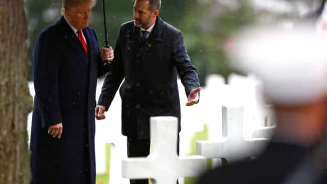 Trump homenageia soldados norte-americanos da I Guerra Mundial