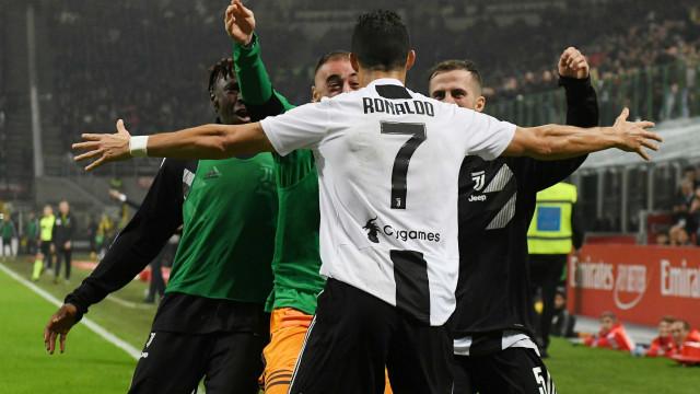 Assim viveram os relatores italianos o golo de CR7 diante do AC Milan