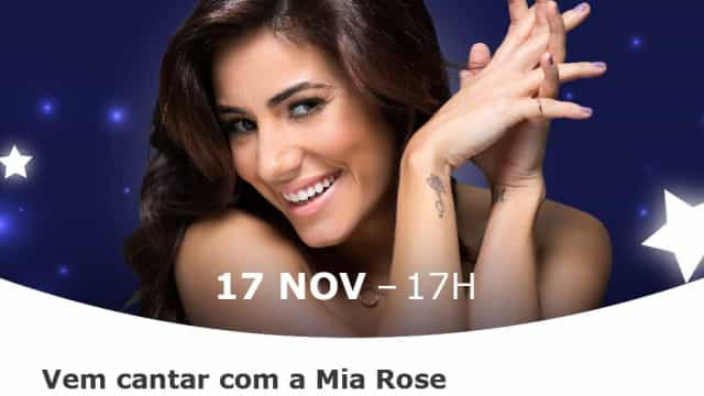 Mia Rose é a madrinha deste Natal no MAR Shopping Algarve