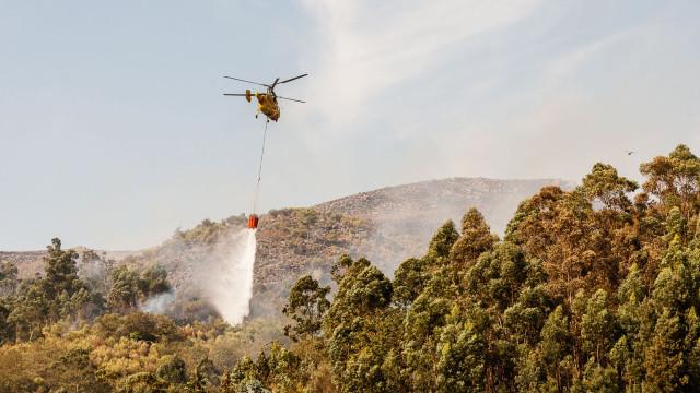 Fogo deflagra em zona de mato próxima de habitações em Pinhal Novo