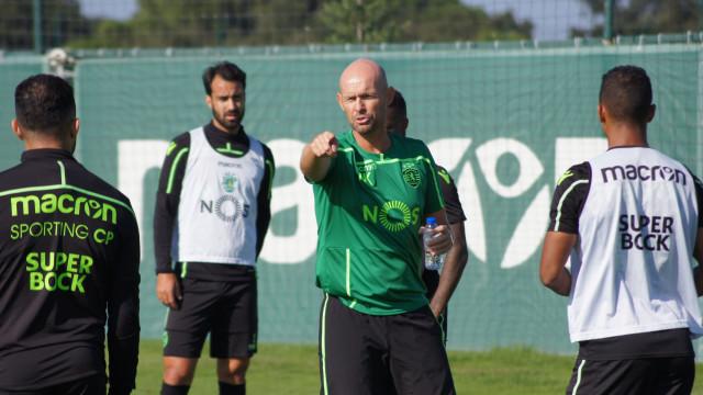 Frederico Varandas presente no treino do Sporting
