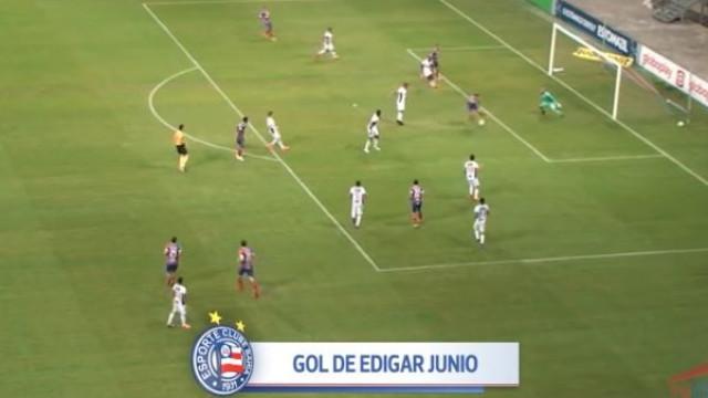 Edigar Junio resolve Bahia-Ceará com remate de letra