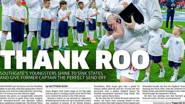Lá fora: O desalento espanhol e o emotivo adeus de Rooney à seleção