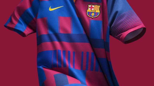 Nike lança nova camisola do Barça que não vai ser utilizada em campo