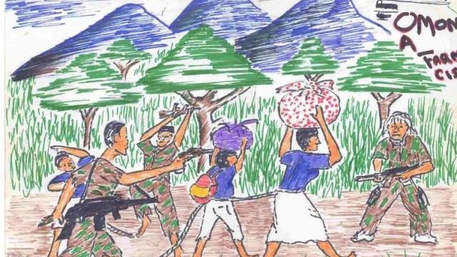 Os desenhos feitos por crianças vítimas de violência ou da guerra