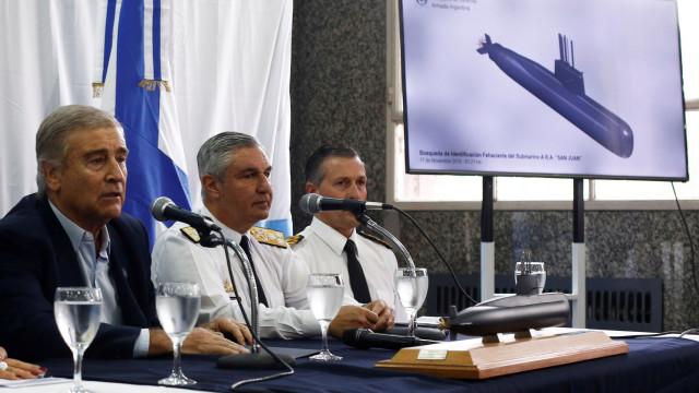Governo argentino admite não ter meios para recuperar submarino
