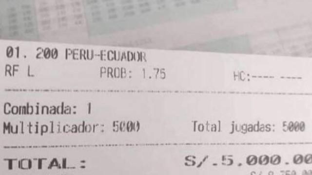 A aposta viral de um adepto peruano que perdeu milhares de euros