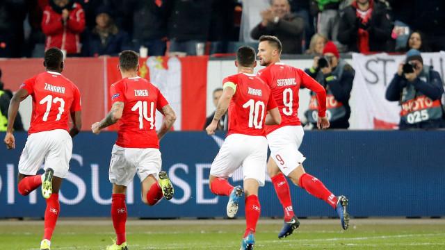 A reação de Haris Seferovic após 'arrasar' a Bélgica