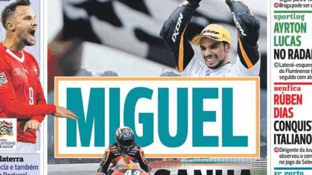 Cá dentro: Miguel Oliveira divide protagonismo com Rúben Dias e Casillas