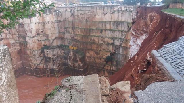 PJ em Borba a investigar pedreiras e estrada que ruiu