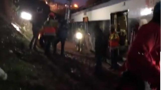 As primeiras imagens do descarrilamento de comboio em Espanha