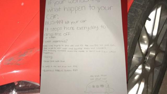 Mensagem de aluno do 6º ano ajuda a resolver acidente de trânsito nos EUA