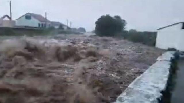Chuva provoca inundações na ilha Terceira