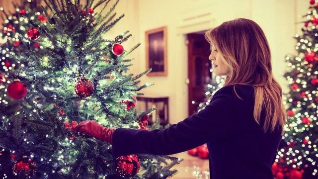 Melania Trump desvendou as decorações de Natal da Casa Branca