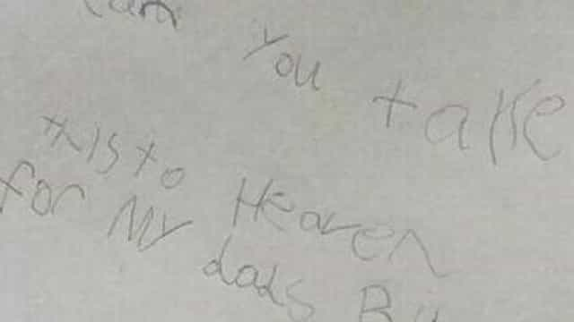 Escreve carta ao pai, com destino ao céu, e recebe resposta inesperada