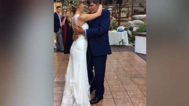 Noiva dança com pai com doença terminal no dia do seu casamento