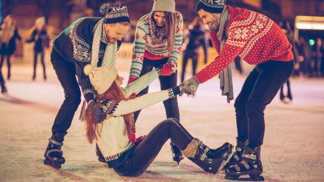 Pista de gelo natural e música são atrativos do Natal em Sines