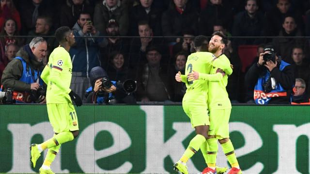 Champions: Lionel Messi eleito o jogador da semana