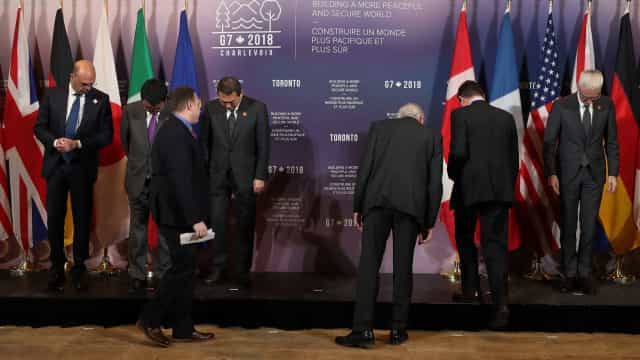 """MNE do G7 têm """"extrema preocupação"""" com ação da Rússia contra Ucrânia"""