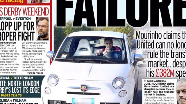 """Lá fora: Queixas de Mourinho em dia de """"alerta laranja"""" em Madrid"""