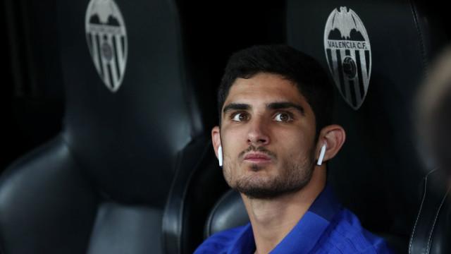 Guedes foi 'apertado' por Marcelino no Santiago Bernabéu