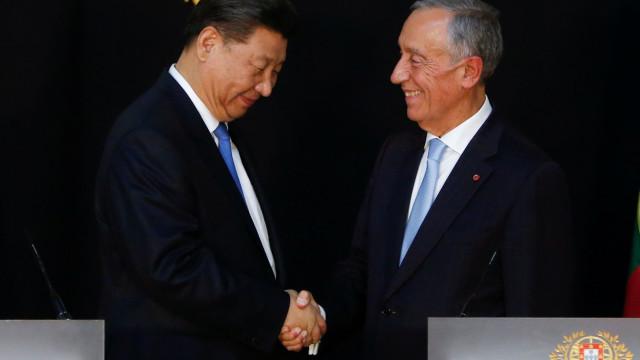 "Disse ""aquilo que devia ser dito"", afirma Marcelo após visita chinesa"