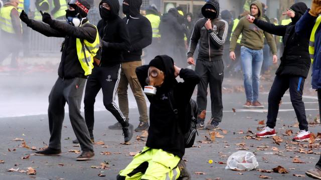 Protestos de 'coletes amarelos' em Bruxelas não chegaram ao coração da UE
