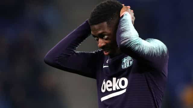 Alerta em Barcelona: Além de Messi, também Dembélé pode falhar El Clásico
